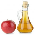Apple vinegar in a vessel
